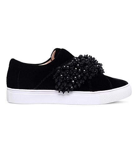 KG KURT GEIGER Ocean velvet slip-on sneakers (Black