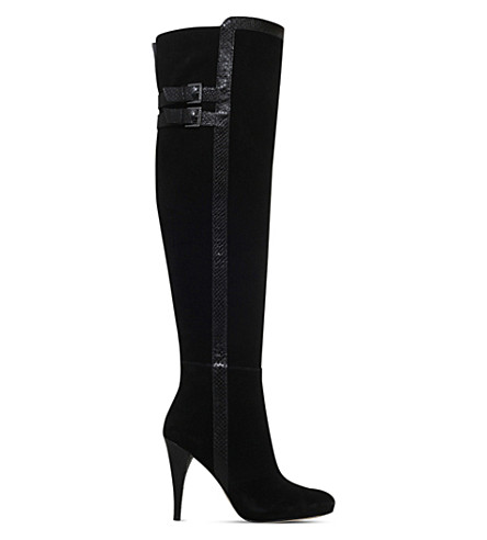 MICHAEL MICHAEL KORS Delaney suede over-the-knee boots (Black