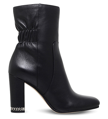 MICHAEL MICHAEL KORS Dolores leather block heel boots (Black