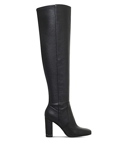 MICHAEL MICHAEL KORS Sabrina chain-detail leather boots (Black