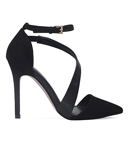 MISS KG Arielle patent heeled courts (Black