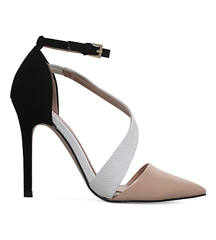 MISS KG Arielle patent heeled courts (Nude