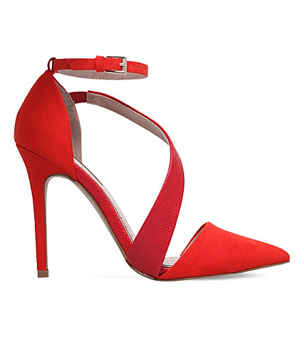 MISS KG Arielle faux-suede courts (Red