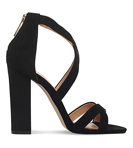 MISS KG Faun faux-suede sandals (Black