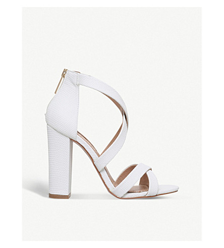 MISS KG Faun reptile-effect sandals (White