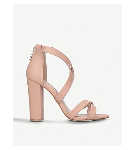 MISS KG Faun cross-strap sandals (Nude