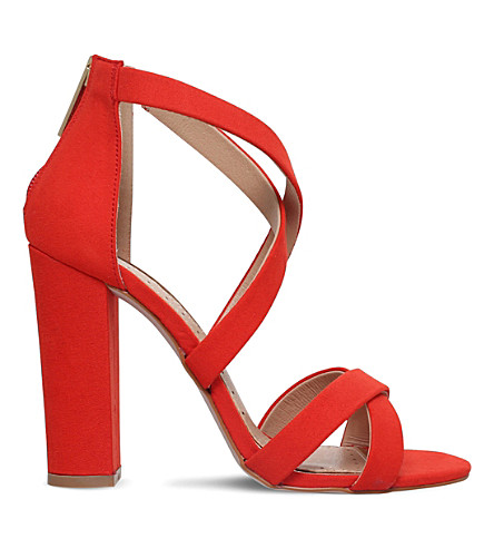 MISS KG Faun faux-suede sandals (Red
