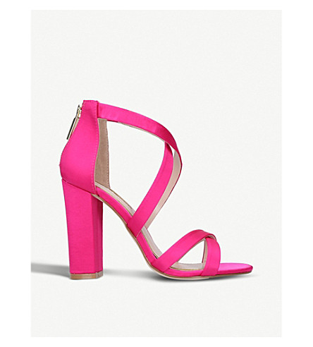 MISS KG Faun strappy satin sandals (Pink
