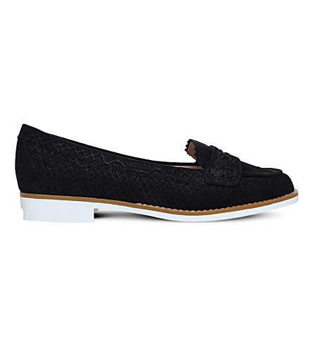 MISS KG Noah suedette loafers (Black