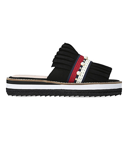 KG KURT GEIGER Madamme suede slide sandals (Black