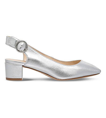 NINE WEST Brigitte faux-leather courts (Silver