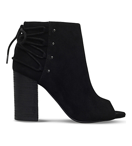 NINE WEST Britt faux-suede open-toe ankle boots (Black