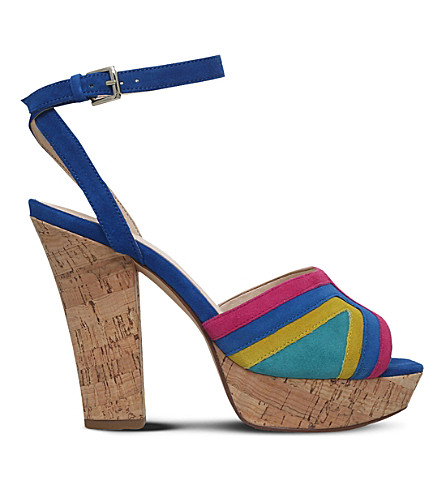 NINE WEST Damonica multi-coloured suede sandals (Mult/other