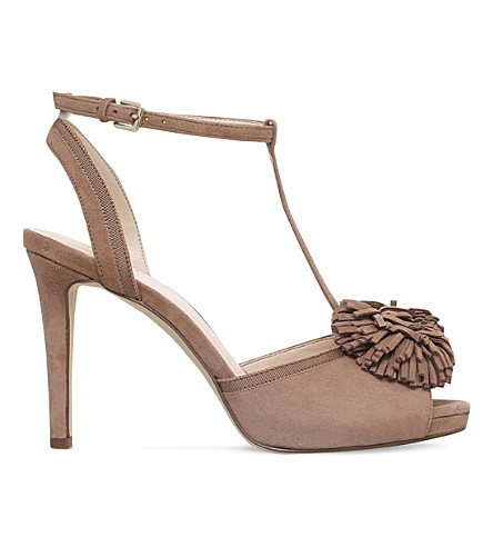 NINE WEST Essen faux-suede courts (Taupe