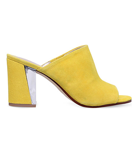 NINE WEST Gemily faux-suede sandals (Yellow