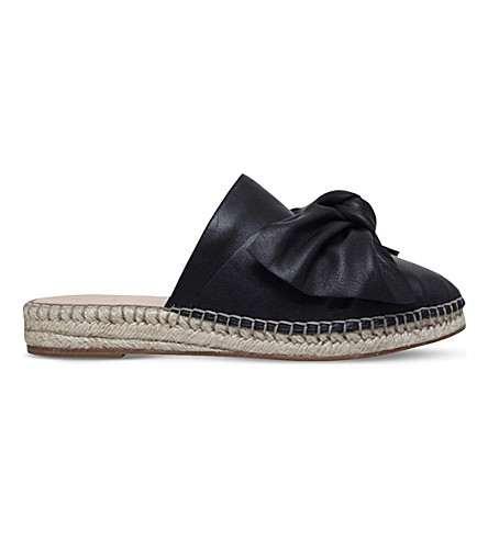 KG KURT GEIGER Niamh leather espadrilles (Black