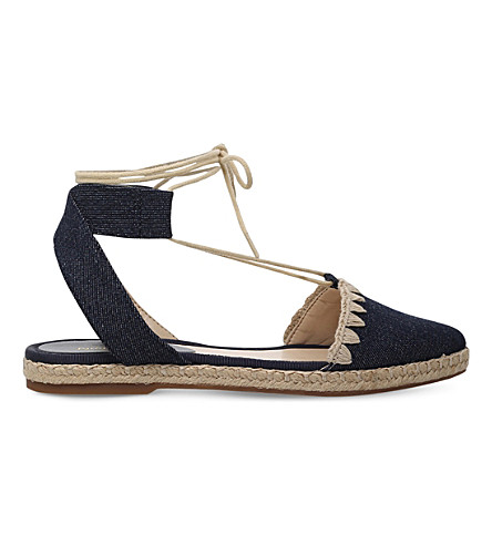NINE WEST Unah denim-finish sandals