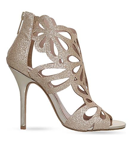MISS KG Flutter glitter heeled sandals