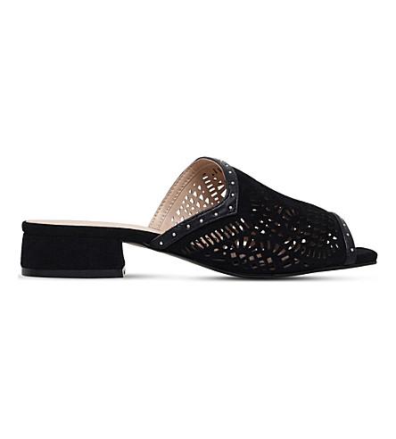 KG KURT GEIGER Mojave laser-cut suede sandals