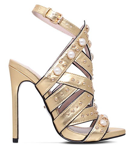 CARVELA Goldie metallic sandals (Gold