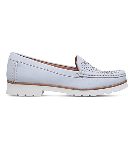 CARVELA COMFORT Cilla studded nubuck loafers (Grey