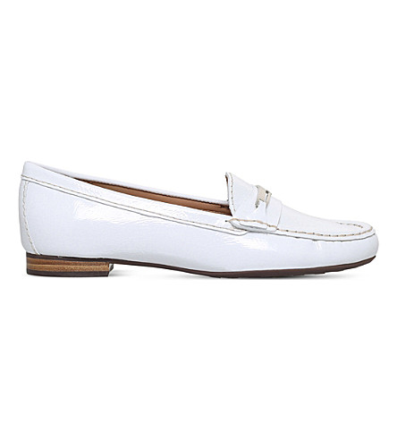 CARVELA COMFORT Charlotte leather loafers (White
