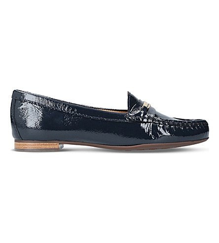 CARVELA COMFORT Charlotte patent leather loafers (Navy