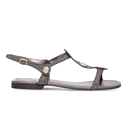 CARVELA COMFORT Sarah embellished metallic sandals (Metal+comb