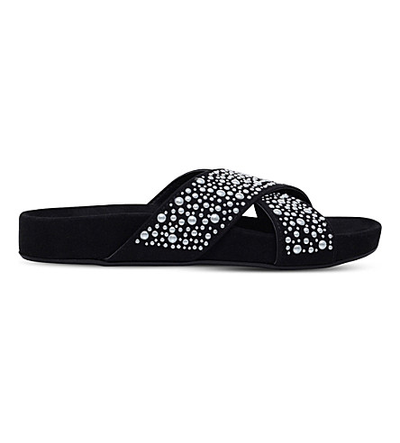 CARVELA COMFORT Sandy pearl embellished sandals