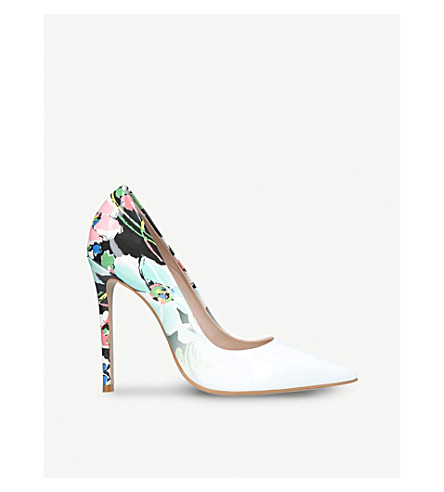 CARVELA Alice floral-print patent courts (White/oth