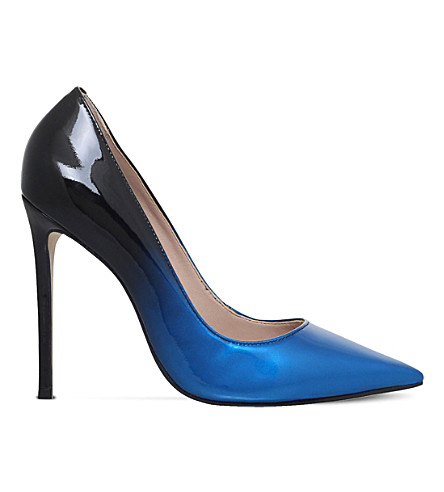 CARVELA 爱丽丝漆皮革 ombré宫廷鞋 (蓝色