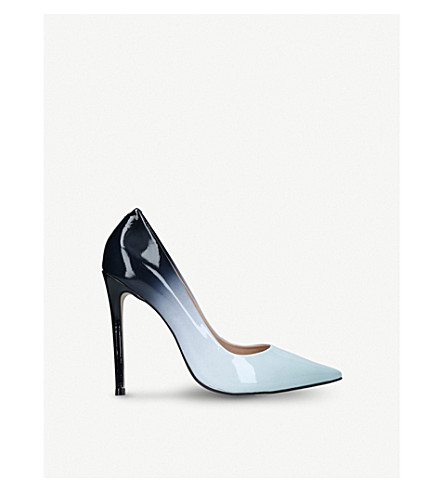 CARVELA Alice ombré patent-leather courts (Pale+blue
