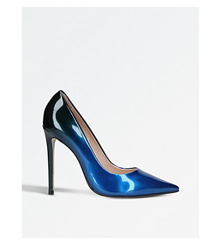 CARVELA Alice two-tone patent courts (Blue+other
