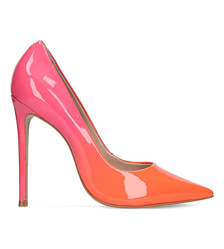 CARVELA Alice patent-leather ombré courts (Orange