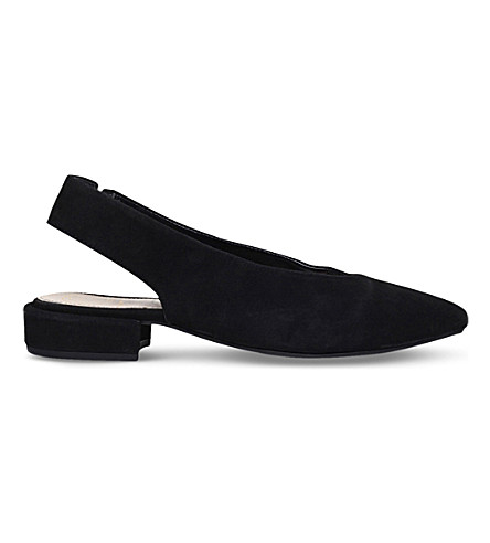 KG KURT GEIGER Kooky sling-back suede loafers (Black