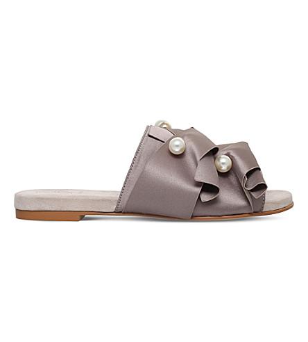 KG KURT GEIGER Naomi embellished flat mules (Beige