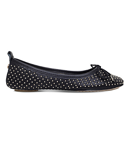 CARVELA Lay studded leather ballerinas (Black