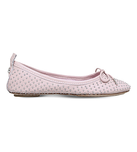 CARVELA Lay studded leather ballerinas (Nude