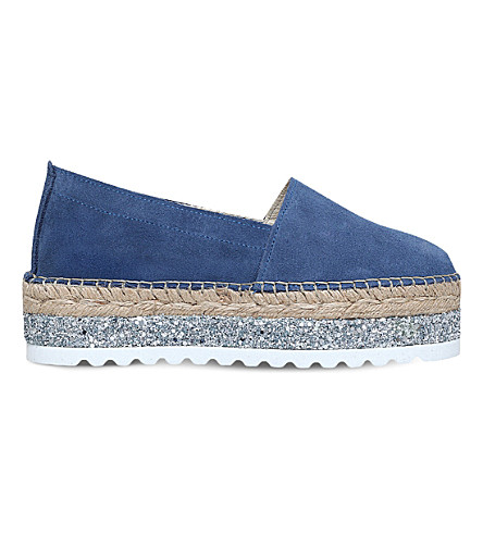 CARVELA Loan suede espadrilles (Blue