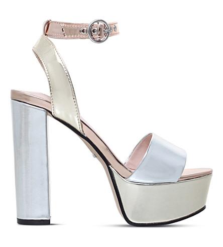 CARVELA Geranium metallic platform sandals (Silver+com