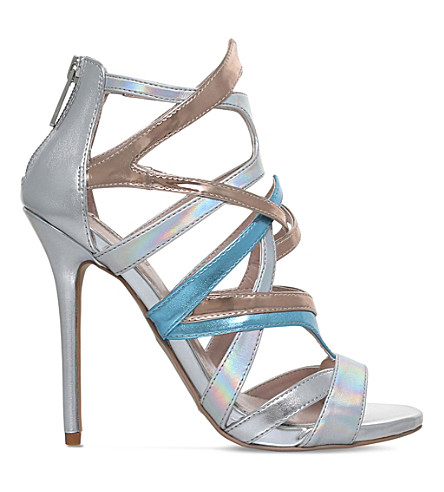 CARVELA Gum caged metallic sandals (Silver