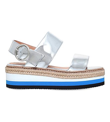 CARVELA Keith patent flatform sandals (Silver