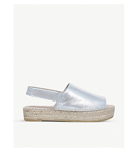 CARVELA Kinder metallic leather sandals (Silver
