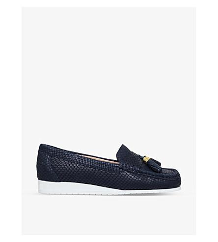 CARVELA COMFORT 成本蛇皮浮雕皮革乐福鞋 (海军