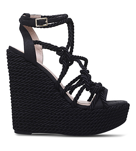 KG KURT GEIGER Notty rope detail wedge sandals (Black