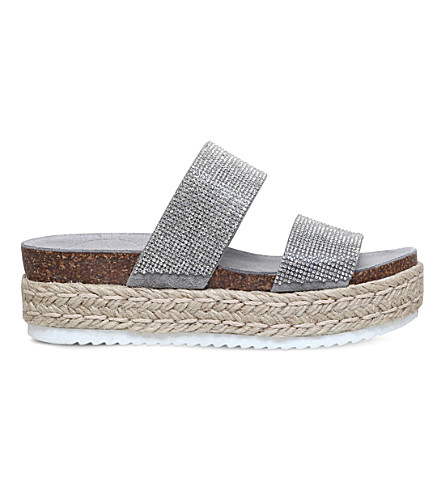 CARVELA Karry studded flatform sandals (Grey