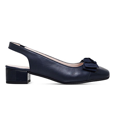 CARVELA COMFORT Alayna leather slingback courts (Navy