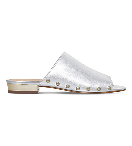 CARVELA Kammie metallic leather mules