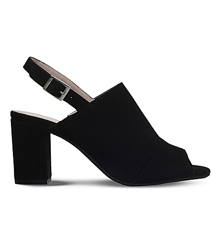 CARVELA COMFORT Accent suede high heel sandals (Black