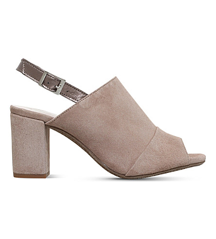 CARVELA COMFORT Accent suede high heel sandals (Taupe